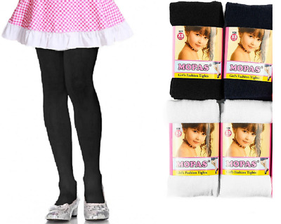 3,6 Pairs Girl's Mopas Winter Solid Color Classic Tights Black,Navy,White XS-XL