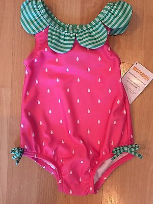 NWT Gymboree Baby Girl 6-12 months STRAWBERRY One Piece Swimsuit.
