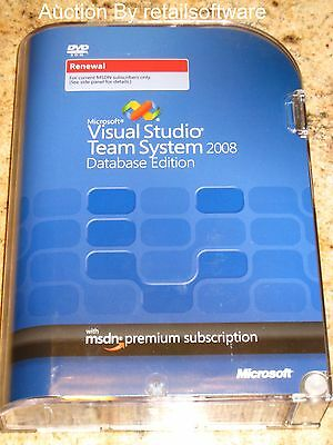 Microsoft Visual Studio Team System 2008 MSDN Premium Renewal Subscription, New