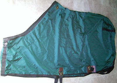 "83"" Closed Front Big D Nylon Horse Show Sheet Spruce Black Polishes Contour"