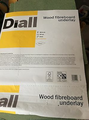 NEW Diall Wood Fiberboard Underlay 6mm - 10 Sheets (Part Pack)
