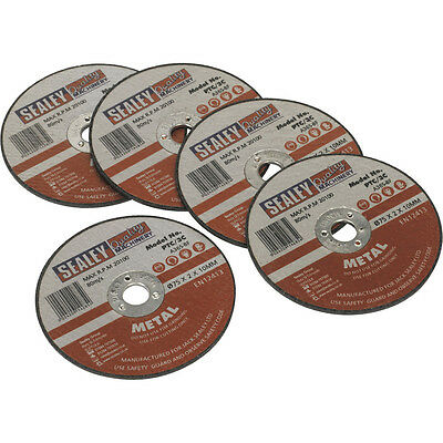 Sealey Cutting Disc 76mm x 2mm x 10mm for Metal Pack of 5