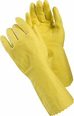 TEGERA Yellow Household Rubber Washing up Gloves 300mm Long Waterproof S M L XL