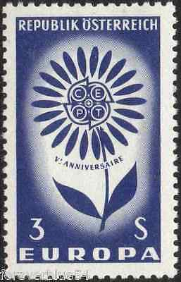 Austria 1964 SG 1437 Sc 738 MNH Europa Flower combined postage
