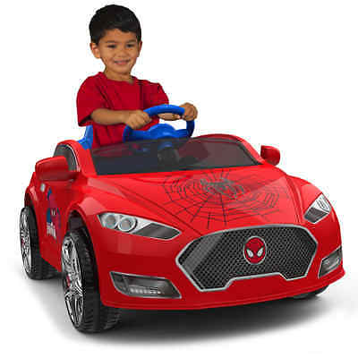 Car Toys For 3 Year Old Boys Spiderman 6v Speed Electric Cars For