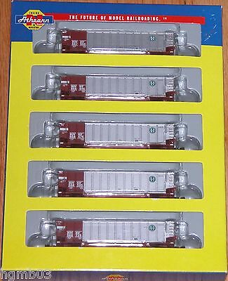 Athearn 10455 N Bethgon Coalporter With Load 5-Pack Bnsf