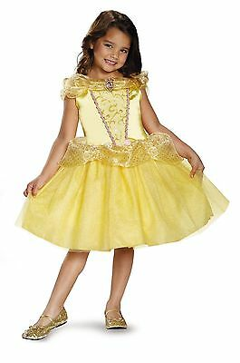BELLE BEAUTY AND THE BEAST DISNEY PRINCESS CHILD COSTUME Cosplay Fancy Dress G3