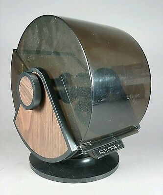 Large Vintage Executive ROLODEX Rotary/Rotating Card Holder/File & Lid SW-35 USA