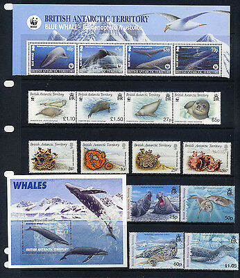 BAT Blue Whale, and 3 other Sealife sets and a M/S all UMM MNH