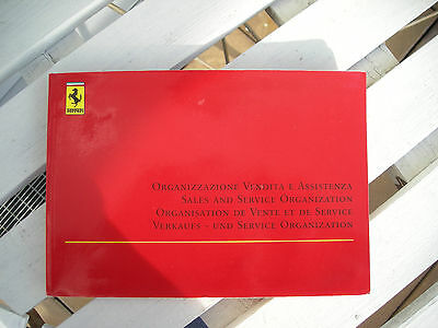 FERRARI 360 Sales and Service Organisation booklet