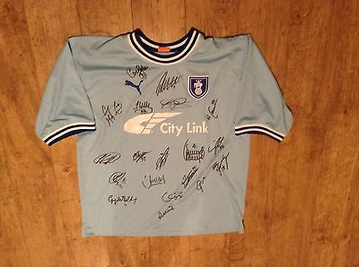 COVENTRY CITY Shirt Handsigned by 2011/12 Squad.