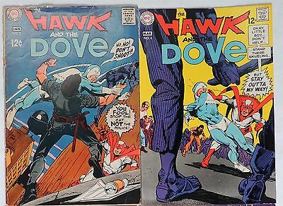 B912 The HAWK and the DOVE #3-4 DC Comics 5.0 VG/FN (1967) Silver Age GIL KANE =