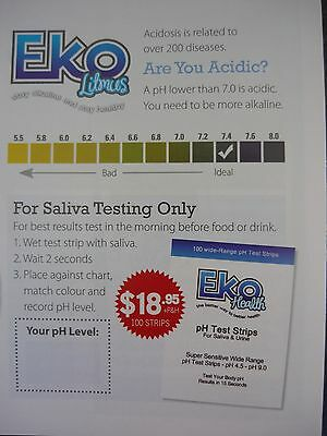 Eko Health pH Test Strips-pack of 100-results in 15 Seconds-check your acidity!
