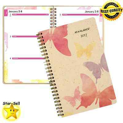 Weekly Monthly Planner Appointment Book 2017 Calendar Travel Organizer Notebook