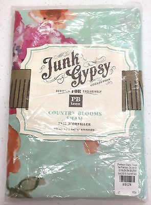 POTTERY BARN PB TEEN Junk Gypsy Country Blooms STANDARD Sham, NEW