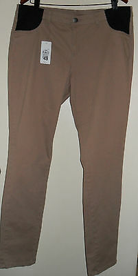target maternity pants Size 18  neutral NWT cotton/elastane - FREE belly band