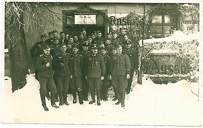 WWII Group of GERMAN Soldiers Uniform Snow Real Photo PC 1940 WW2
