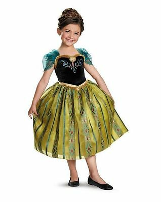 FROZEN ANNA CORONATION DELUXE CHILD COSTUME Halloween Cosplay Fancy Dress G4
