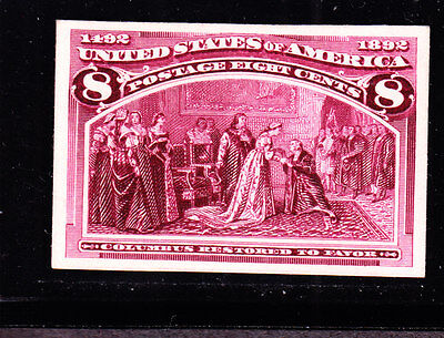 US 236P4 8c Columbian Exposition Proof on Card XF NH SCV $150
