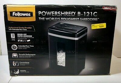 Fellowes B-121C Cross-Cut Professional Paper Shredder - Heavy Duty Use  12 sheet