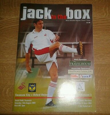 Swansea City V Oxford United 18Th August 2000 Division Two