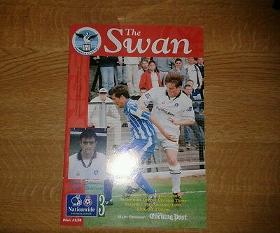 Swansea City V Notts County 18 October 1997 Division 3 Mint
