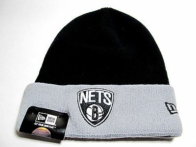 61c0b16f NEW ERA HAT Knit Nba Brooklyn Nets Black Gray - $9.95 | PicClick