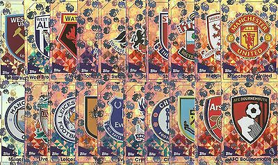 Match Attax 2016/17 - BADGE Football Cards - Topps - choose your Card