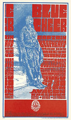 Blue Cheer Captain Beefheart 1967 FD 73 ORIGINAL/MINT Avalon Ballroom Poster