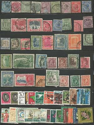 63 Jamaica Stamps from Quality Assorted Old Albums