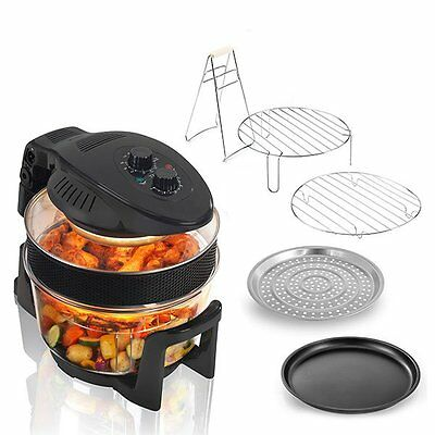 Cookshop 12L Halogen Oven with 5L Extender Ring and Hinged Lid