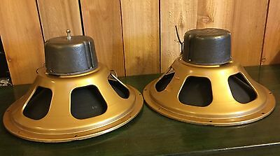 "Vintage pair GOLD 12"" Coaxial Speaker Drivers ~ 5.9 DCR ~ SOUND GREAT"