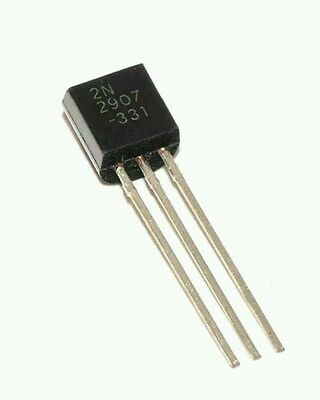 50pcs 2N2907  PNP Transistor TO-92  600ma 60v.  USA seller...