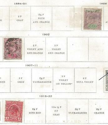 3 Gold Coast Stamps from Quality Old Album 1898-1922
