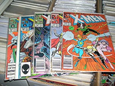 Uncanny X-Men Comic Lot ( 5 Issues ) 1987
