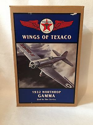 NEW ERTL Wings Of Texaco 1932 Northrop Gamma Airplane Bank. 2nd In Series.