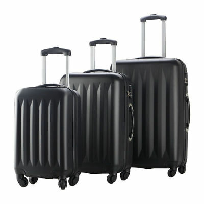 New 3 Pcs Luggage Travel Set Bag ABS Trolley Suitcase 4 Color 2048