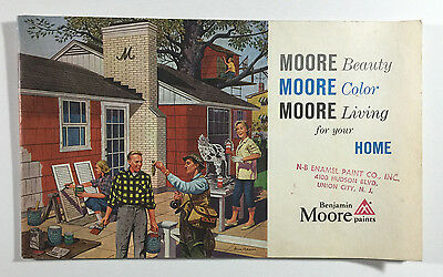 VTG Benjamin Moore Paints Advertising Booklet For Your Home, Circa 1950s - 60s