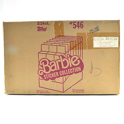 1983 Topps Barbie Stickers  Display Box EMPTY Case #546 3/24 ct. 709