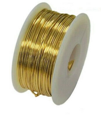 Jeweler's Brass Wire ROUND Spools Gauges 14-22 DEAD SOFT NuGold Merlin's Gold