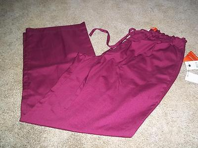"NWT!! ORANGE STANDARD ""DOCKWEILER"" (G3703-61) SCRUB PANTS IN WINE COLOR  Sz: LG"