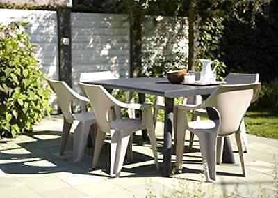 Allibert by Keter Dante Outdoor Dining Table Garden Furniture - Graphite