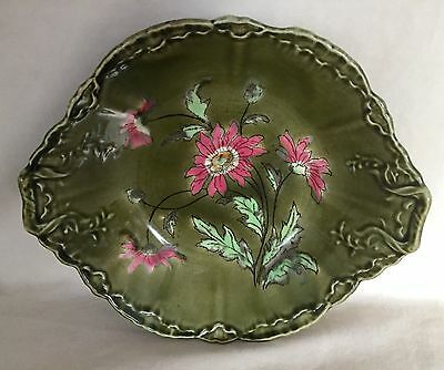 Antique 19th Century Germany Ludwig Wessell Faience Majolica Bowl Hand Painted