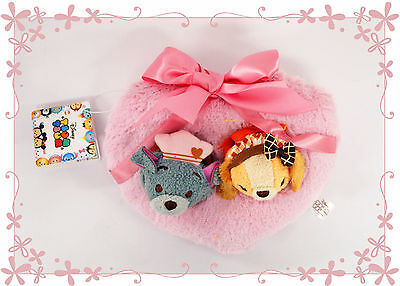 Disney Store Japan Mini (S) Tsum Tsum Valentine's Lady and the Tramp Doll 587265