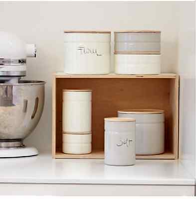 NEW RIESS CANISTER 6cm 615ml KITCHEN ENAMEL STORAGE CONTAINER TEA COFFEE SUGAR