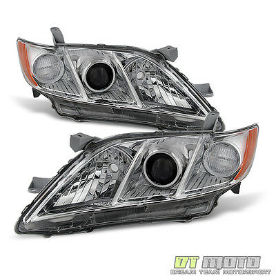 US Model 2007 2008 2009 Toyota Camry Headlights Headlamps Replacement Left+Right