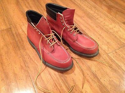 VTg Red Wing Moc Toe Work Boots Men Sz 10 & 12 EE RARE  Excellent USA