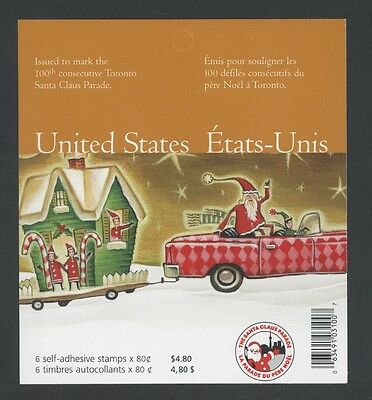 CANADA BOOKLET BK299 80c x 6 CHRISTMAS - SANTA IN A CADILLAC, UNITED STATES RATE