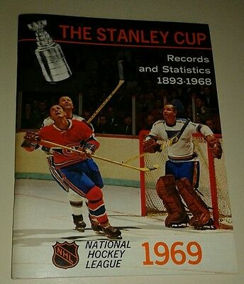 The Stanley Cup Records and Statistics 1893-1968 NHL 1969 Book N.MINT GLENN HALL