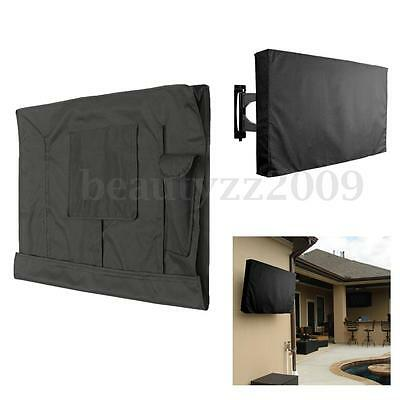 50''-52'' Weatherproof Black TV Cover Outdoor Patio Flat Television Protector